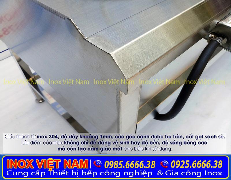 Giá bếp inox thấp áp 3 họng đốt tại IVN uy tín chất lượng được rất nhiều nhà hàng lựa chọn sản phẩm này.