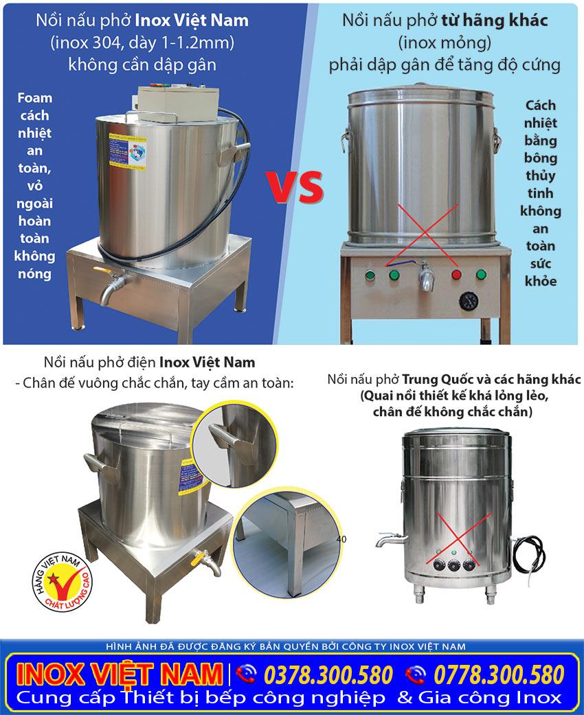 Nồi nấu phở bằng điện, nồi điện nấu phở hàng Việt Nam Chất Lượng Cao khi mua tại Xưởng của chúng tôi Inox Việt Nam.