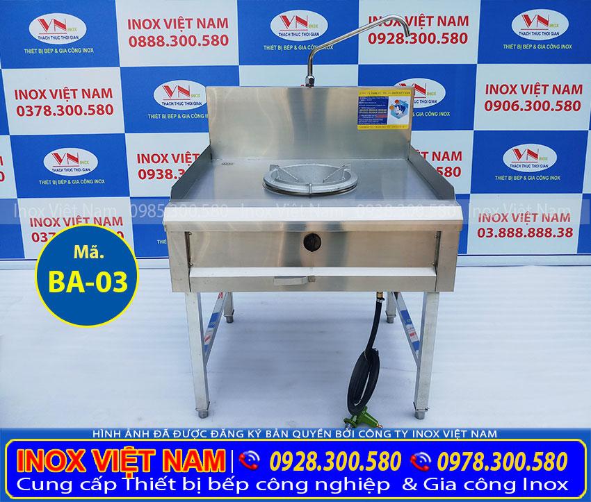 Liên hệ Inox Việt Nam báo giá bếp á công nghiệp 1 họng kiềng tô, bếp inox công nghiệp 1 họng đốt kiềng tô giá tại xưởng của chúng tôi.