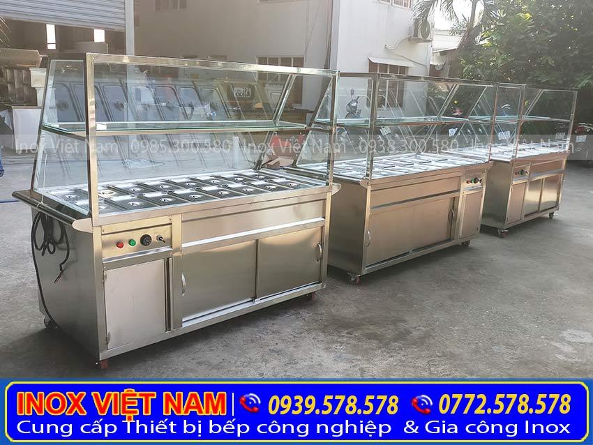 Báo giá tủ hâm nóng thức ăn công nghiệp bằng điện, tủ hâm nóng, quầy trưng bày hâm nóng thức ăn giá tốt.