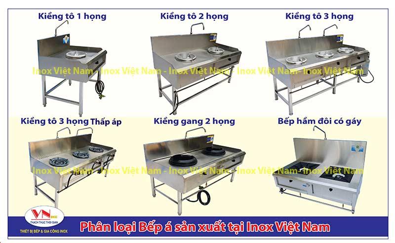 Mẫu thiết bị bếp á công nghiệp: bếp công nghiệp inox, bếp inox nhà hàng do chúng tôi sản xuất IVN.