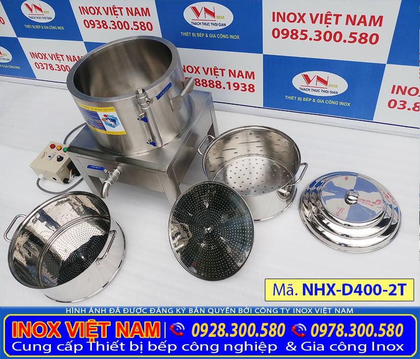 Báo giá nồi hấp xôi công nghiệp 2 tầng, nồi điện hấp xôi công nghiệp uy tín chất lượng giá tại xưởng sản xuất của chúng tôi Inox Việt Nam.