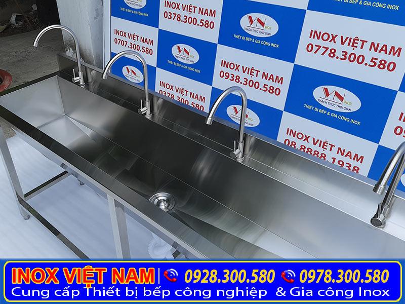 Máng rửa tay trẻ em inox, máng rửa inox công nghiệp, địa chỉ mua máng rửa tay theo đơn đặt hàng uy tín tại TP HCM.