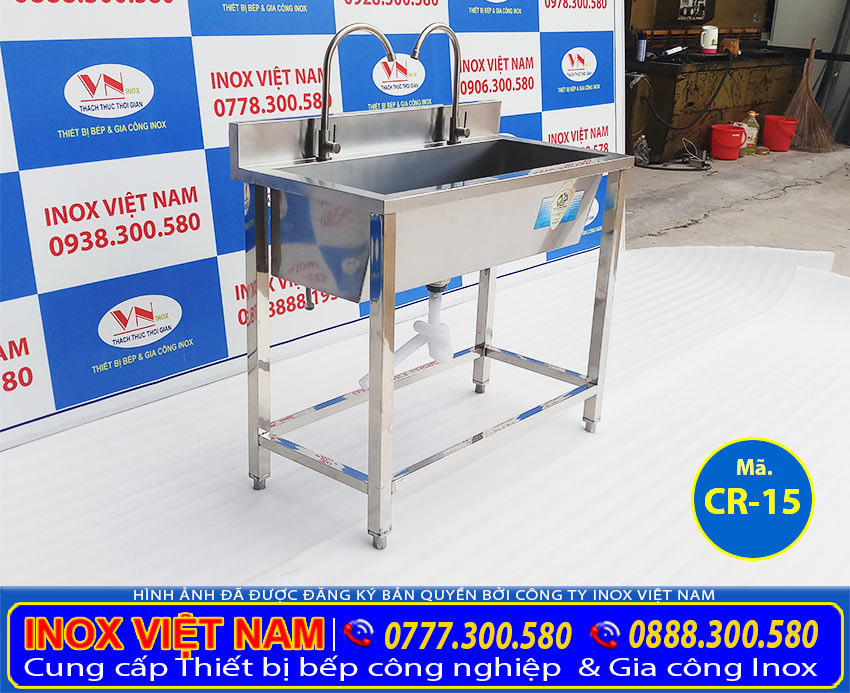 Máng rửa tay trường học, máng rửa inox dài 1 mét sản phẩm thuộc hạng mục bồn rửa tay inox công nghiệp được sản xuất tại xưởng Inox Việt Nam.