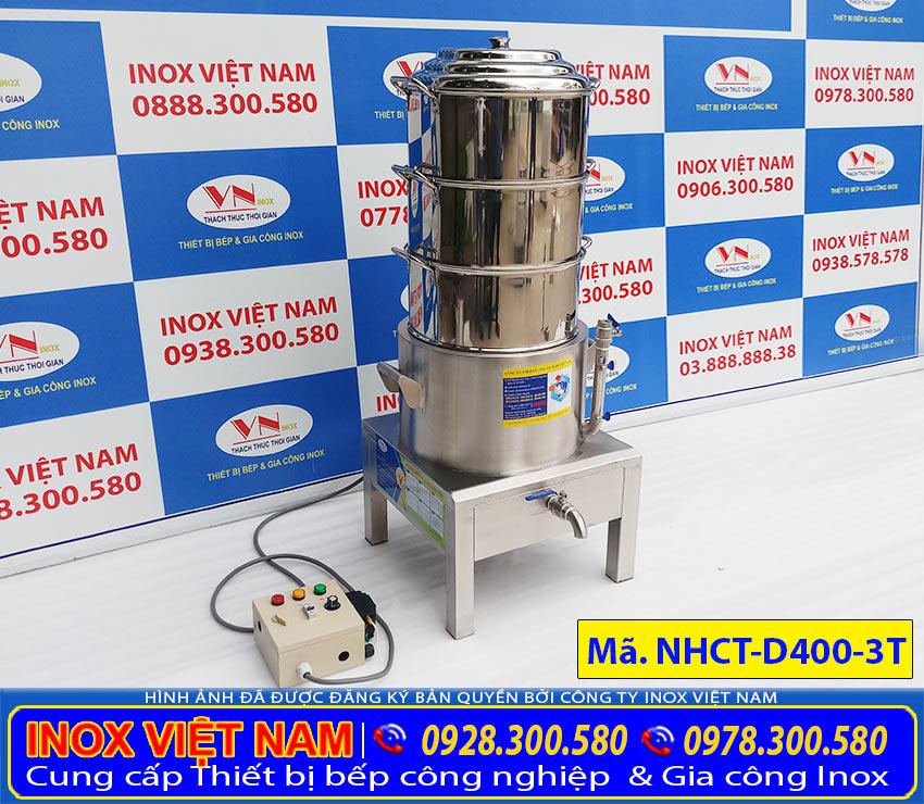 Mua nồi hấp cơm tấm bằng điện 3 tầng hãng Inox Việt Nam sản xuất uy tín chất lượng, giải đáp được thắc mắc câu hỏi khách hàng đặt ra mua ở hàng nào tốt nhé!