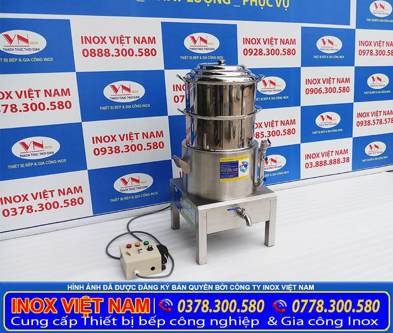 Sản phẩm nồi hấp cách thủy bằng điện giá tốt tại xưởng IVN, nồi hấp cách thủy 2 tầng bằng điện, nồi hấp điện cách thủy công nghiệp.