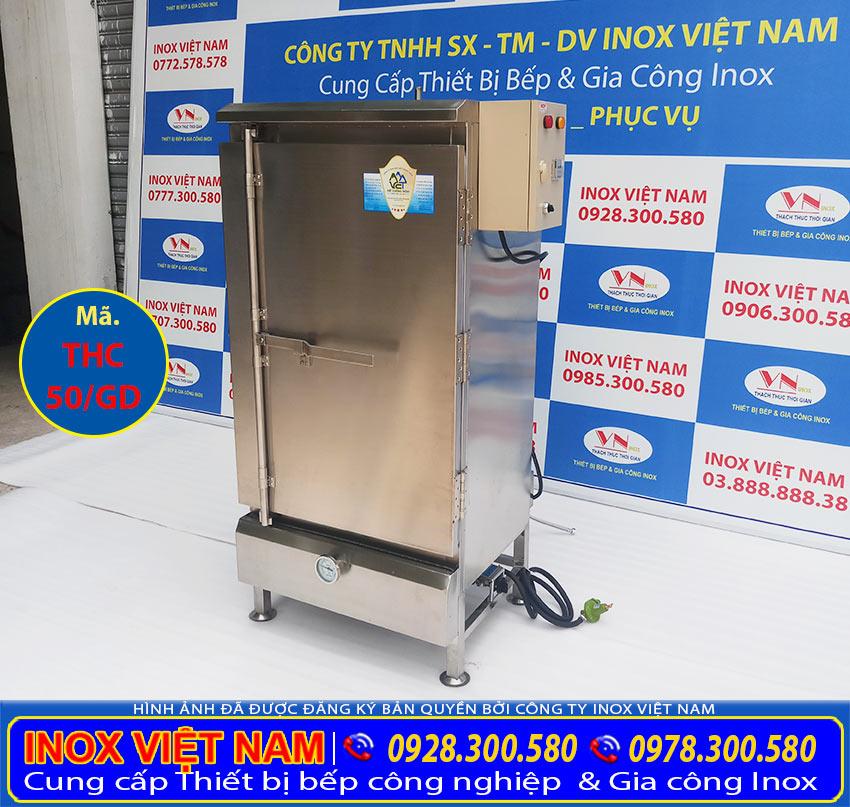 Tủ hấp cơm công nghiệp loại 50kg gạo sử dụng điện và gas, IVN là địa chỉ mua tủ hấp cơm, tủ cơm công nghiệp uy tín tại TP HCM và trên toàn quốc.
