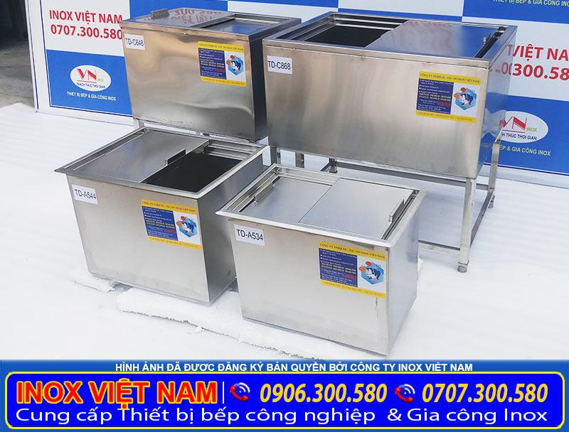 IVN sản xuất Thùng đá inox 304, thùng đựng đá inox kích thước mẫu mã theo đơn đặt hàng của khách hàng.