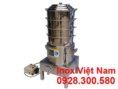 Nồi hấp bánh bao 4 tầng bằng điện sản phẩm an toàn chất lượng tại xưởng IVN.