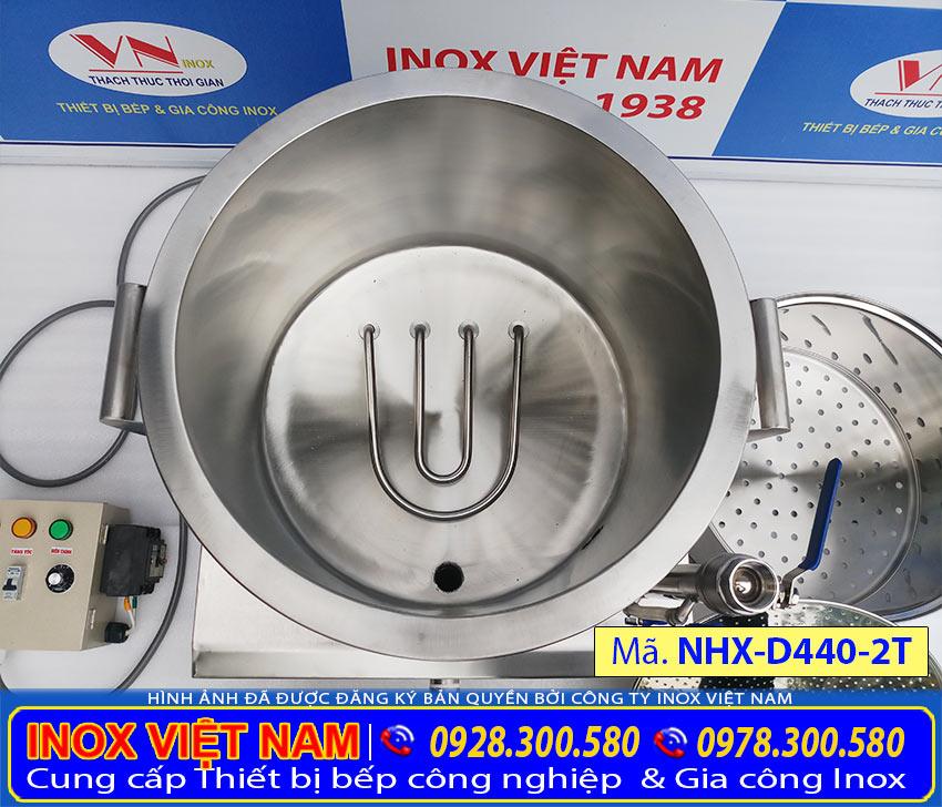 Nồi hấp xôi bằng điện 2 tầng, nồi điện hấp xôi công nghiệp, nồi hấp xôi công nghiệp cao cấp chính hãng thương hiệu Inox Việt Nam.