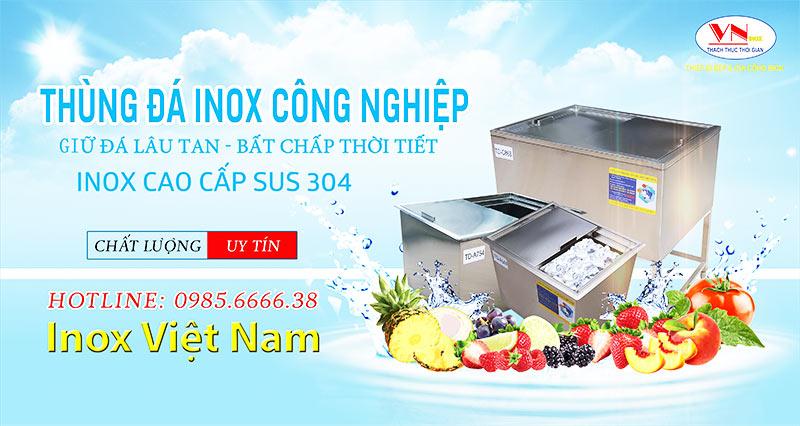 Thùng Đá Inox công nghiệp, Tủ Đá Inox, Thùng Chứa Đá, Quầy Bar Inox Cao Cấp