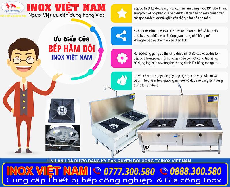 Bếp hầm inox công nghiệp, thiết bị bếp hầm công nghiệp inox