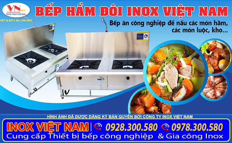 Địa chỉ bán bếp hầm inox công nghiệp nhà hàng uy tín tại TP HCM.
