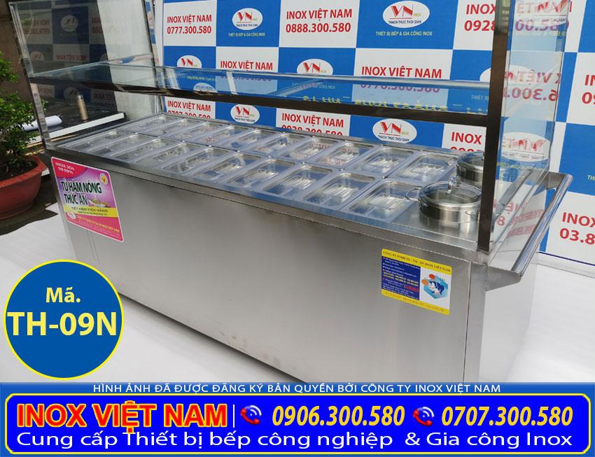Địa chỉ bán tủ hâm nóng thức ăn 20 khay 2 nồi đựng thực phẩm, tủ giữ nhiệt thực phẩm giá tốt.