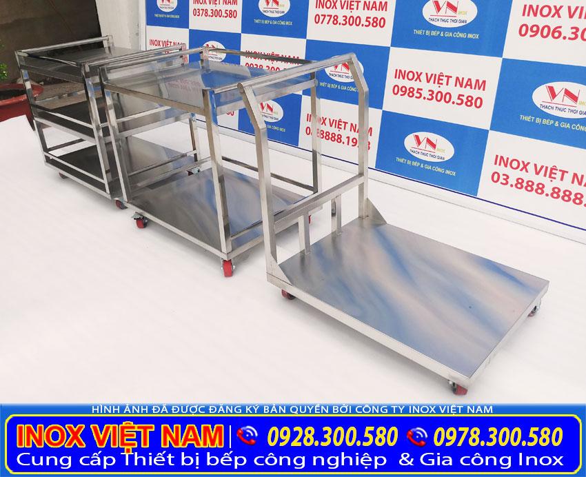 Địa chỉ bán xe đẩy hàng inox 304, Inox Việt Nam gia công sản xuất các loại xe đẩy inox giá tốt. Hoặc theo yêu cầu.