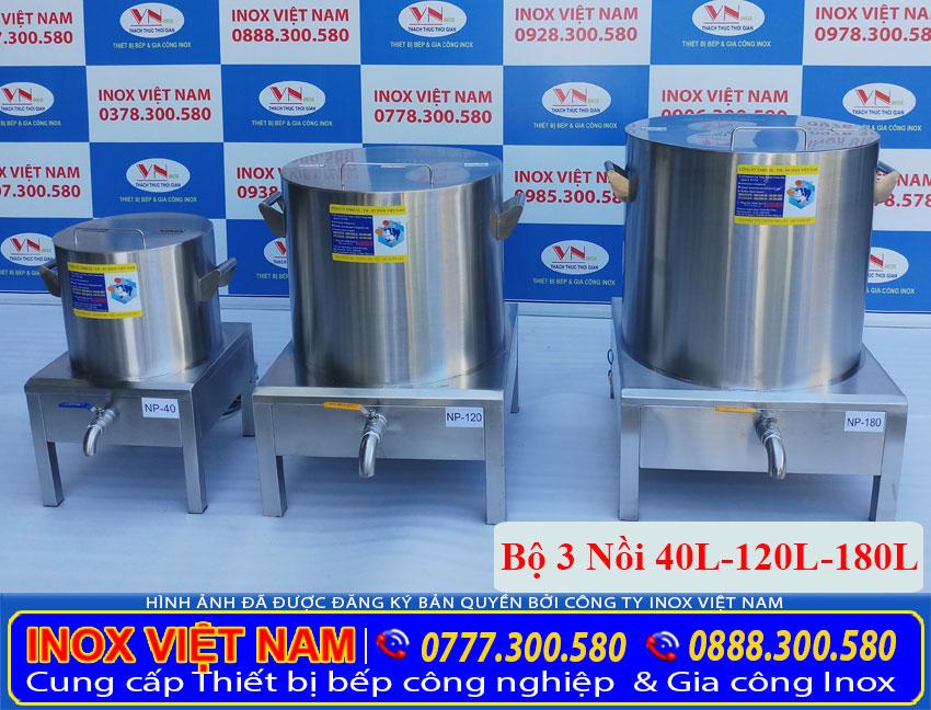 Giá bán bộ nồi nấu phở điện 40 lít 120 lít 180 lít tại xưởng sản xuất Inox Việt Nam. Liên hệ Mua ngay.