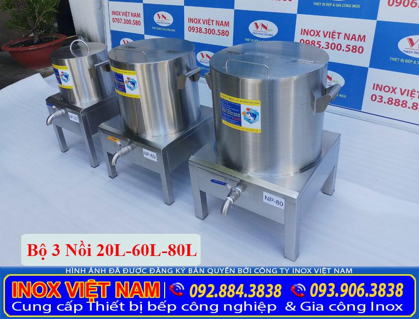 Địa chỉ mua bộ nồi nấu phở bằng điện 20 lít 60 lít 80 lít tại TP HCM. liên hệ Inox Việt Nam.