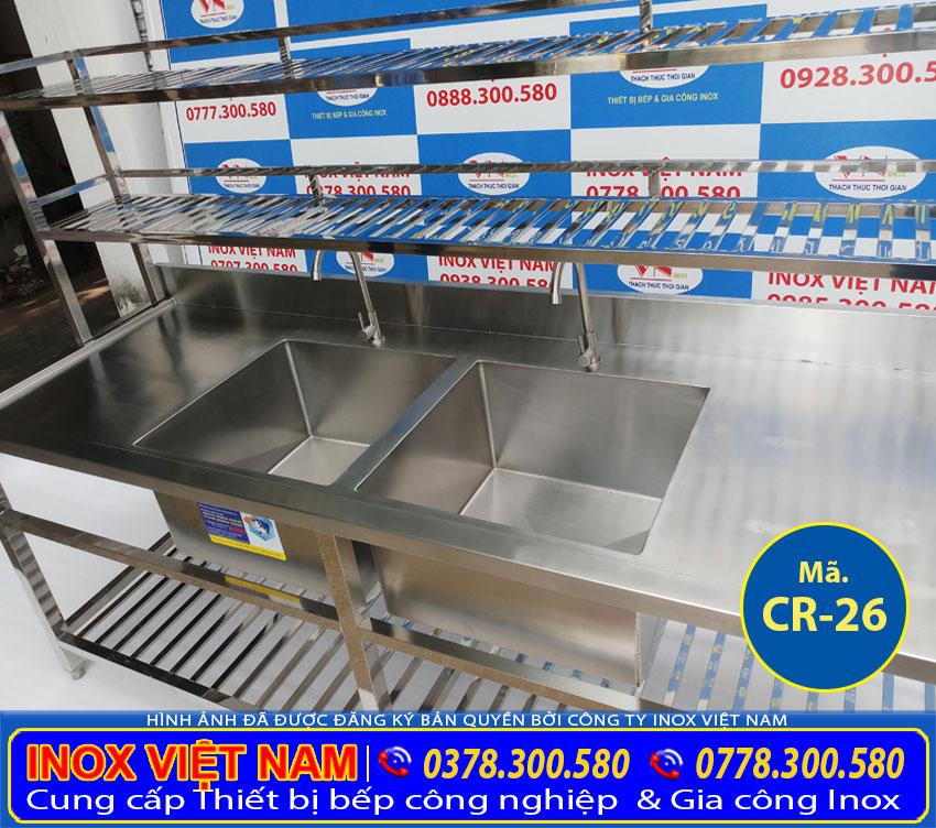 mua chậu rửa chén inox nhà hàng tại TP HCM, chậu rửa inox công nghiệp uy tín chất lượng giá tốt tại xưởng Inox Việt Nam.