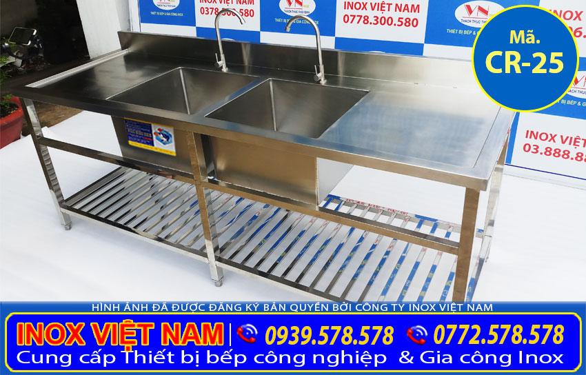 Địa chỉ mua chậu rửa công nghiệp 2 cánh ở đâu tại tp hcm. Hãy liên hệ IVN tư vấn báo giá hoặc đặt mua chậu rửa inox theo mẫu.
