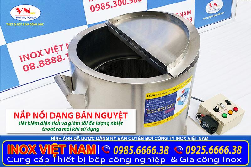 Sản phẩm nồi nấu phở bằng điện chất lượng, nồi điện nấu phở giá tốt chính hãng mang thương hiệu Inox Việt Nam.