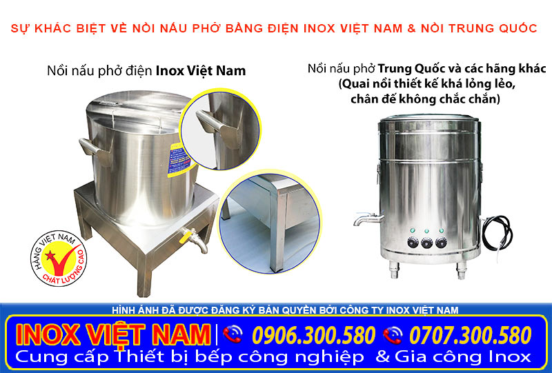 Nồi nấu phở bằng điện chính hãng giá tốt mua tại xưởng Inox Việt Nam.