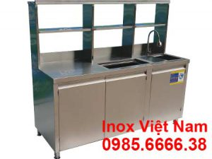 Quầy bar cafe inox QB-11