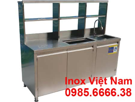 Quầy bar cafe inox QB-11