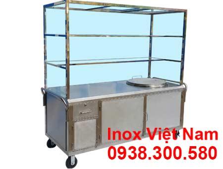 Xe bán hủ tiếu inox, turnans phở inox, nồi nấu nước lèo bằng điện uy tín tại TP HCM.