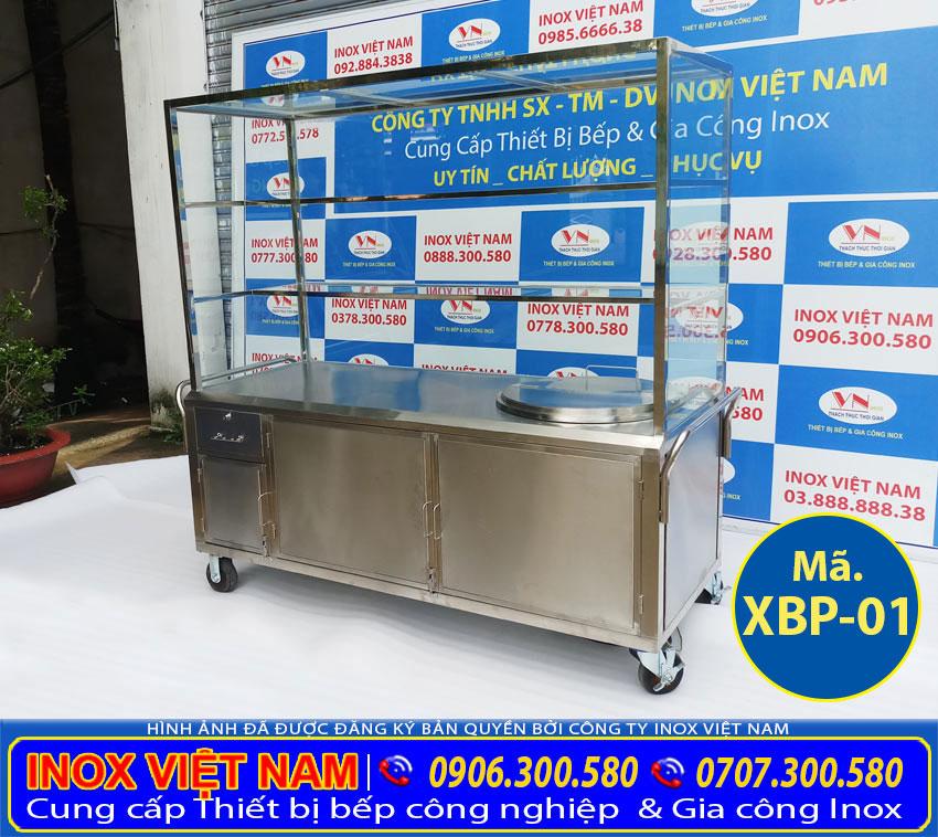 Địa chỉ bán xe bán hủ tiếu tích hợp mái che lắp kính cường lực và nồi nấu phở bằng điện uy tín chất lượng tại TP HCM Cty Inox Việt Nam.