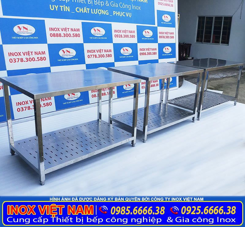 Địa chỉ bán bàn inox, bàn bếp inox công nghiệp, bàn inox cho nhà hàng, căn tin uy tín tại TP HCM và giao hàng tại các tỉnh.