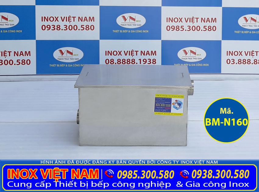 Bẫy mỡ inox 160 lít, bẫy mỡ inox 3 ngăn lắp đặt nổi giá tốt tại xưởng Inox Việt Nam.