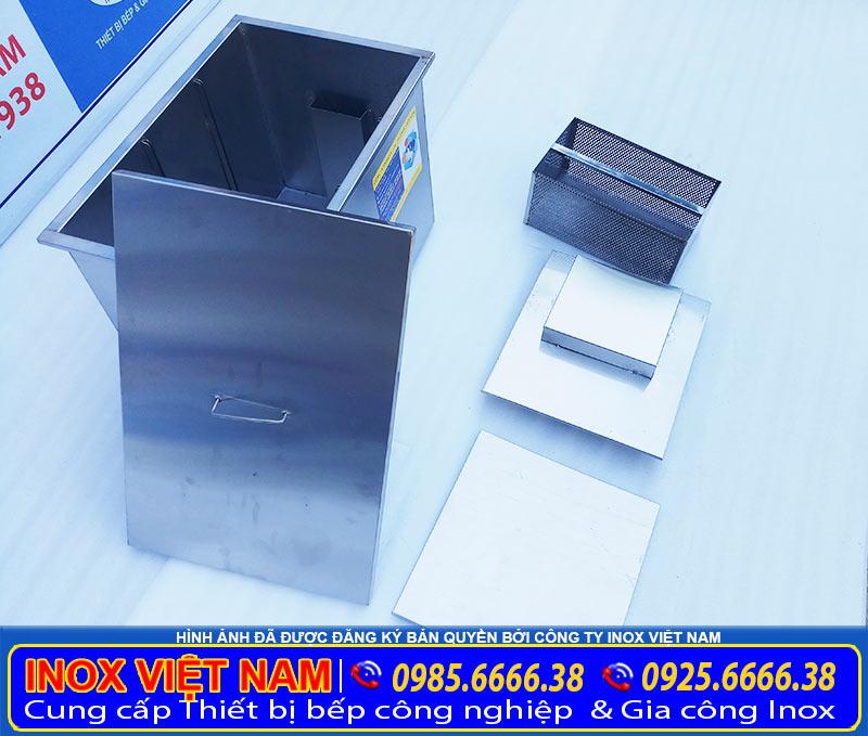 Bể tách mỡ công nghiệp 200 lít giá tôt, bể tách mỡ inox công nghiệp giá xưởng tại Inox Việt Nam.