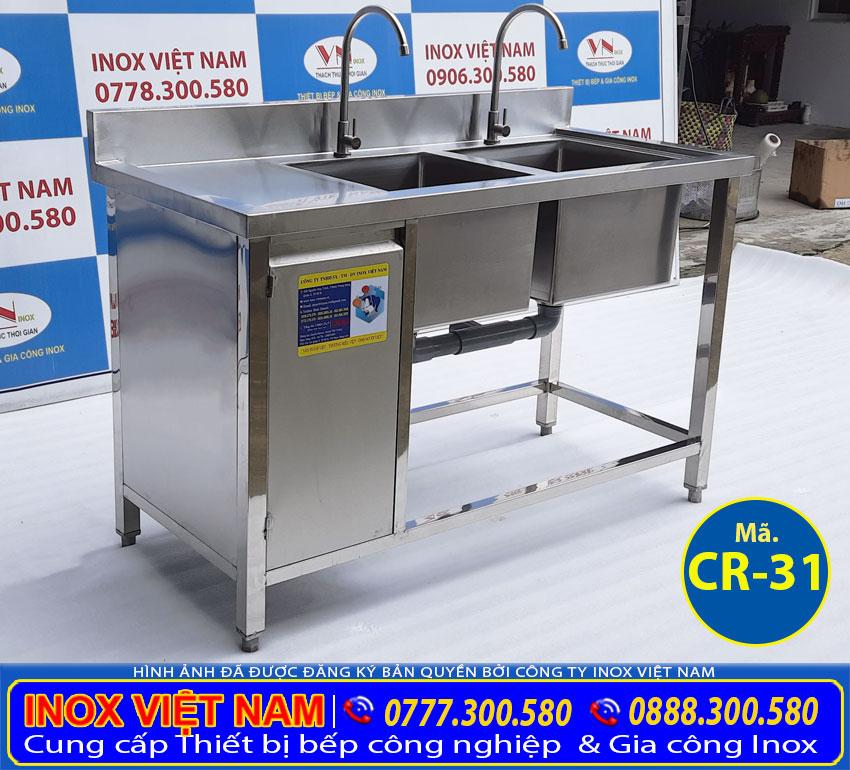 Bồn rửa chén inox 304 có hộc tủ đựng đồ, bồn rửa chén inox liền liền giá tốt.