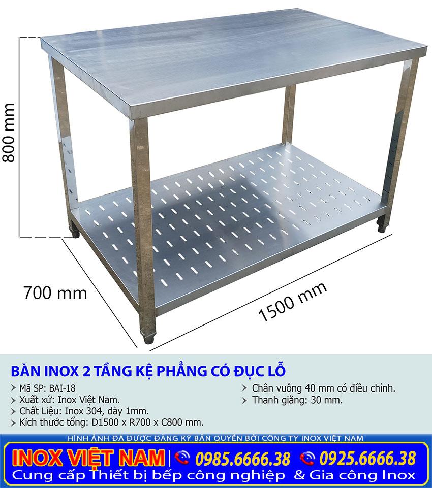 Địa chỉ bán bàn inox so chế thực phẩm uy tín tại TP HCM, bàn sơ chế inox giá xưởng Inox Việt Nam.