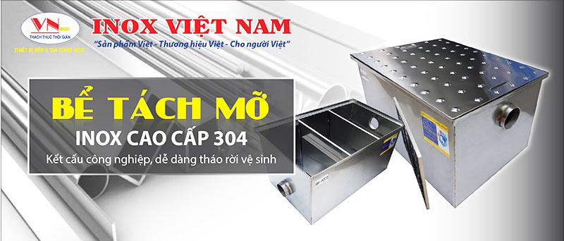 Inox Việt Nam báo giá bể tách mỡ inox 304, bể tách dầu mỡ, bẫy mỡ inox uy tín chuyên nghiệp.