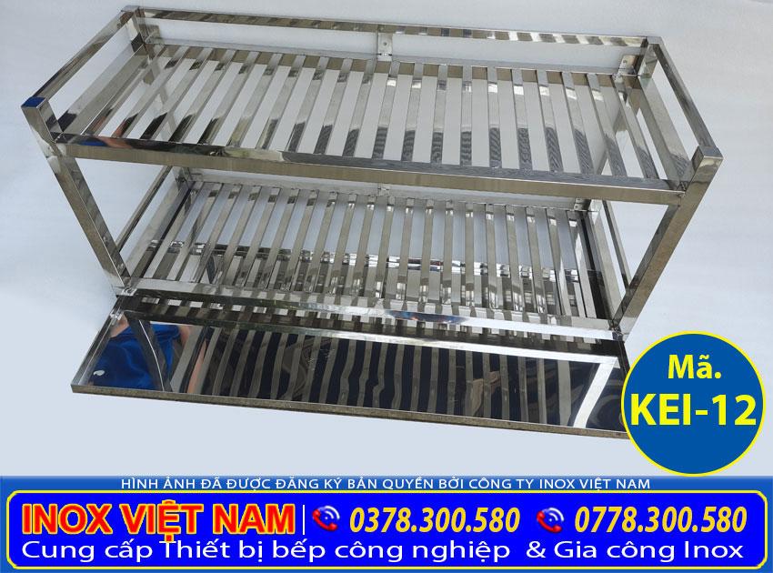Giá kệ inox úp chén bát ly treo tường 2 tầng, kệ inox úp chén tại Inox Việt Nam chúng tôi.