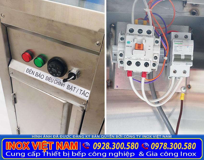 Tủ bán cháo dinh dưỡng bằng điện, tủ hâm nóng bán cháo bằng điện được thiết kế hộp điện an toàn