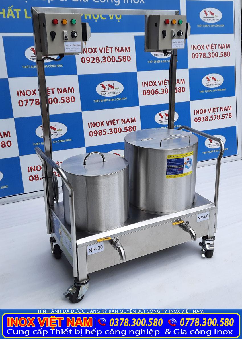 Bộ 2 nồi điện nấu phở 30 lít và 60 lít giá tốt, nồi nấu phở bằng điện giá tại xưởng Inox Việt Nam.