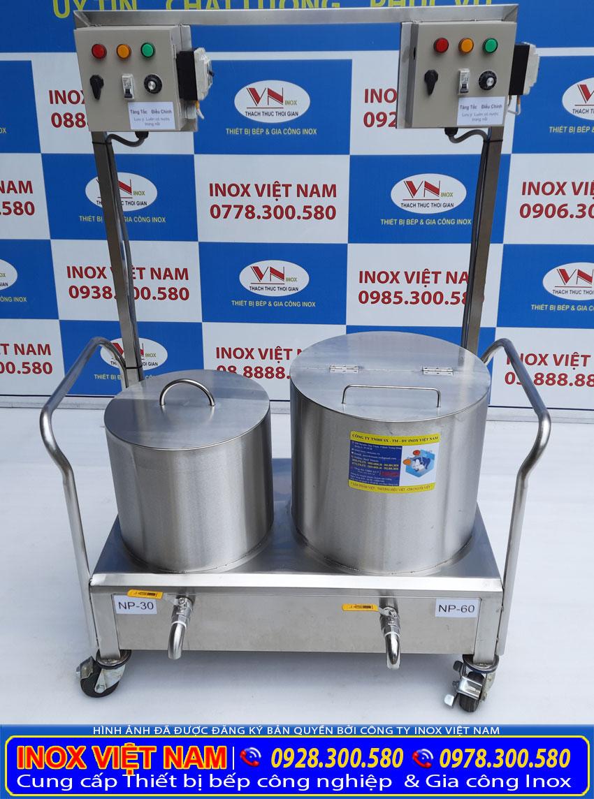 Bộ nồi nấu phở bằng điện 30 lít và 60 lít giá tốt tại xưởng sản xuất Inox Việt Nam.