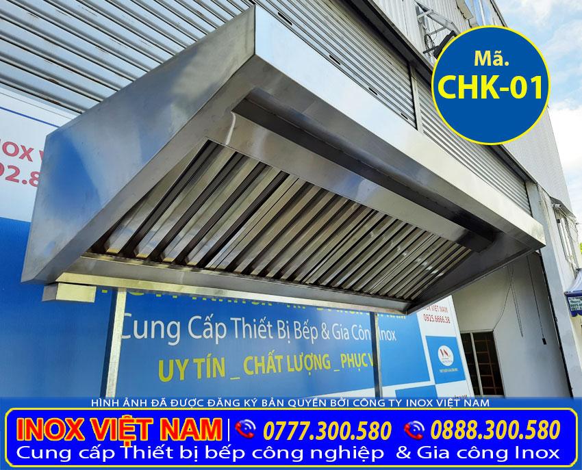 Inox Việt Nam sản xuất chụp hút mùi và lắp đặt chụp hút mùi khói nhà bếp quán cơm bình dân các loại uy tín tại TP HCM.