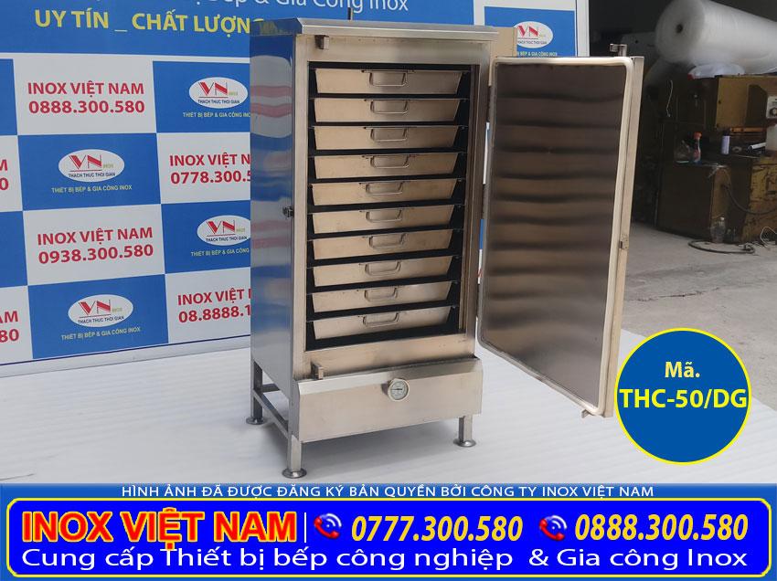 Tủ cơm công nghiệp điện và gas, tủ hấp cơm công nghiệp bằng điện và gas uy tín chất lượng giá gốc tại xưởng sản xuất Inox Việt Nam.