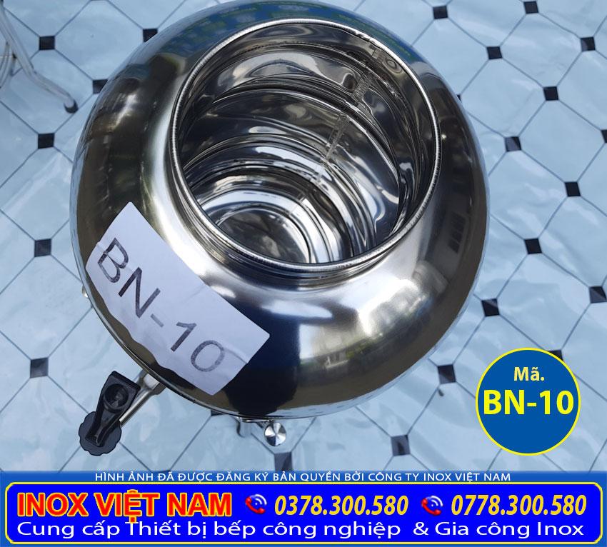 Bình đựng trà đá inox 10 lít, bình inox đựng trà đá inox có vòi gạt 10 lít.