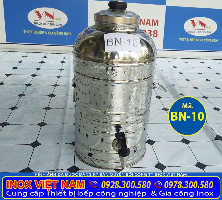 Địa chỉ bán bình inox đựng trà đá có vòi gạt, bình trà đá inox 10 lít. Liên hệ Inox Việt Nam.
