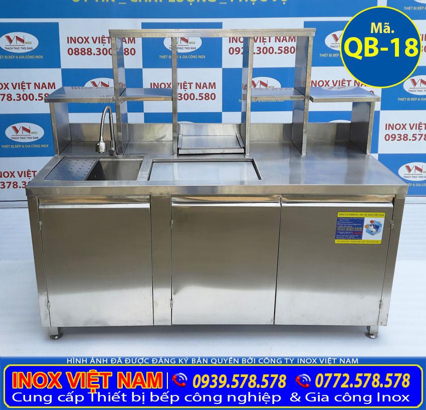 Quầy pha chế cafe inox dài 1 mét 6 giá tốt tại xưởng gia công quầy pha chế Inox Việt Nam.