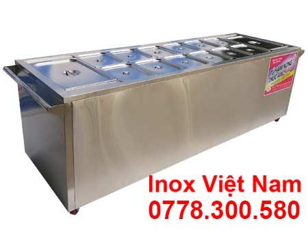 Quầy bán cơm inox bàn hâm nóng thức ăn giá tốt mã TH-14