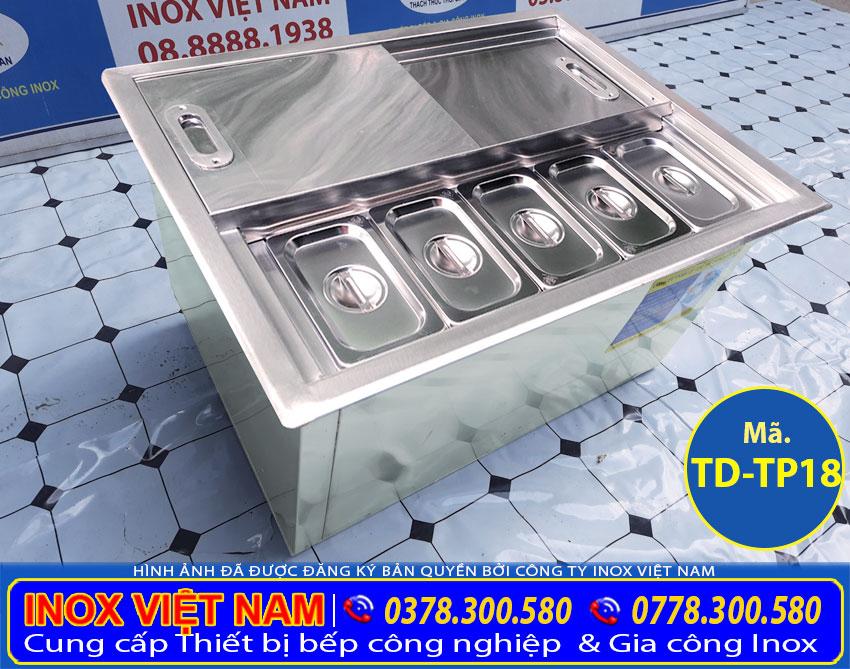 Thùng đá inox topping lắp âm quầy giá tốt tại Inox Việt Nam.