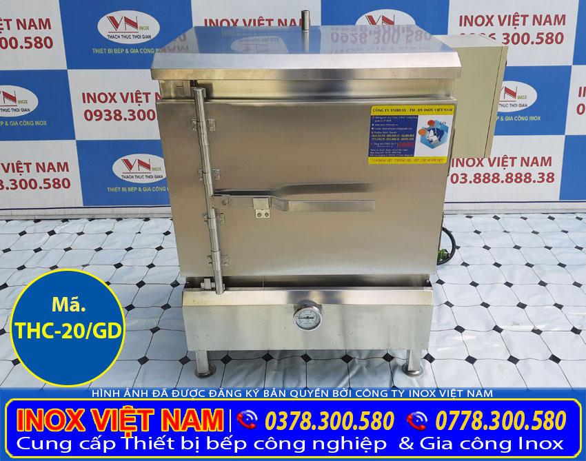 Tủ cơm công nghiệp 20kg gạo sử dụng gas và điện giá tốt.