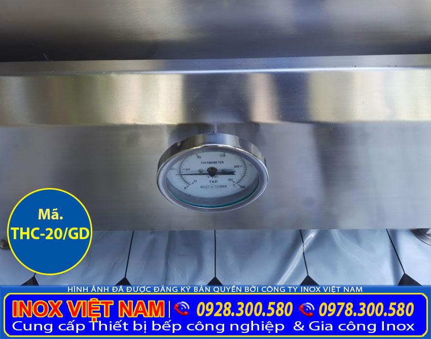 Tủ nấu cơm công nghiệp bằng điện và gas tích hợp đồng hồ