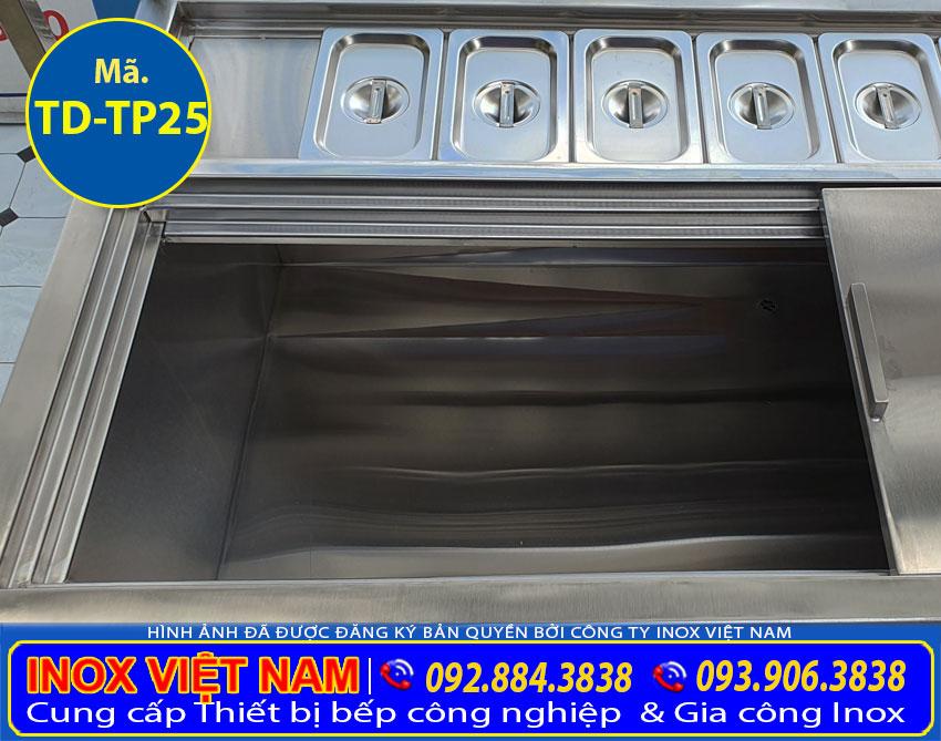 thùng chứa đá inox 304 topping chất lượng