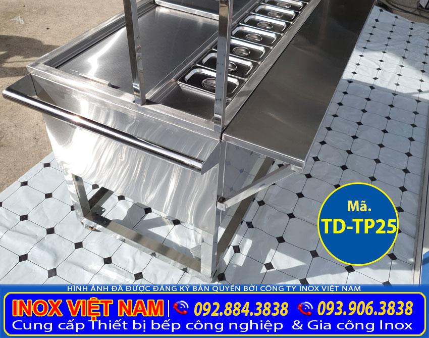 Chi tiết thùng đá inox topping TD-TP25 sản phẩm có tại Inox Việt Nam.